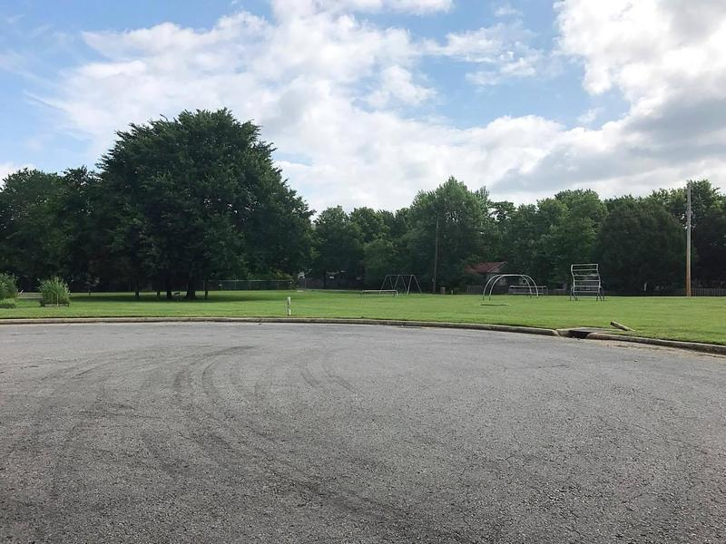 The proposed site for new apartments at Morgan Manor that would replace the housing at Willow Heights as seen in June 2017.