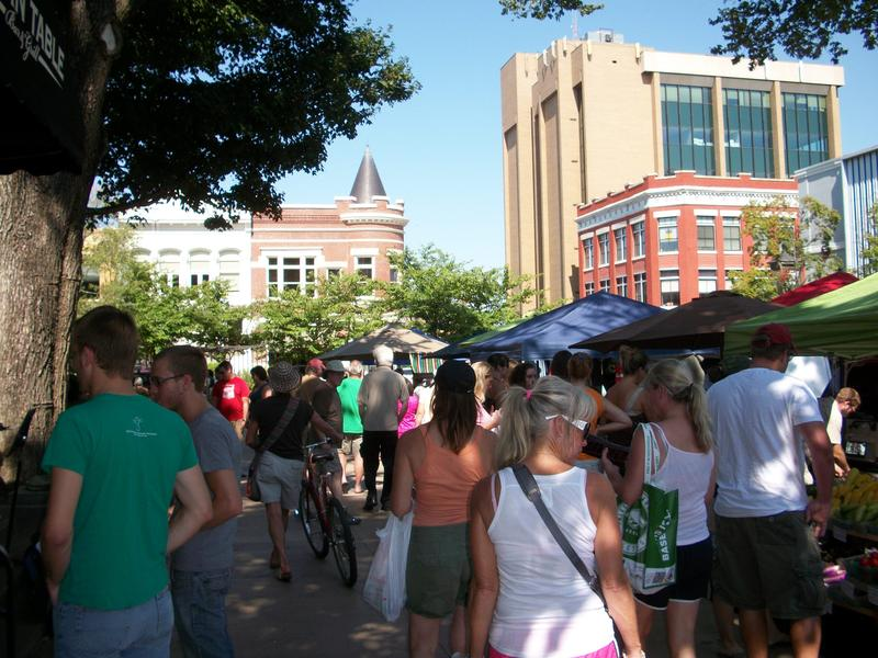 The Farmers Market in downtown Fayetteville today.