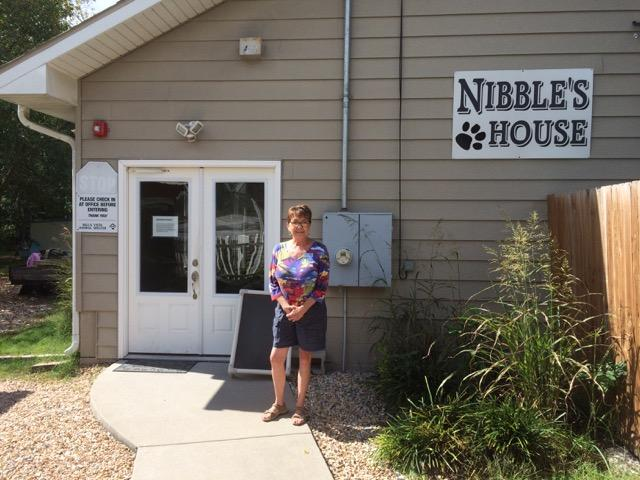 Canines and felines ready for adoption are housed in Nibbles House.