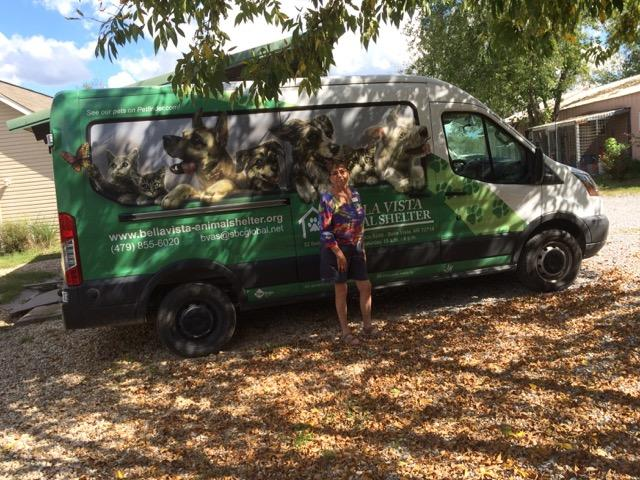 The shelter owns and operates a comfortable animal transport van.