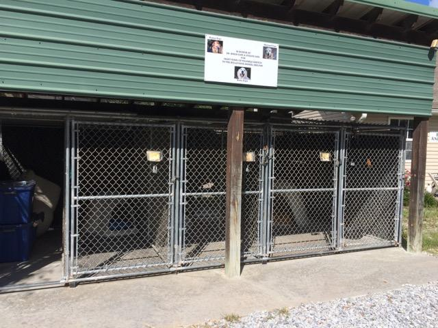 This secure intake area is for law enforcement to drop off strays, day or night.