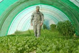 Sgt. David Hafer, an agronomy specialist with the Ag Team