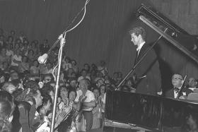 Van Cliburn performing in Tel Aviv, Israel in 1964