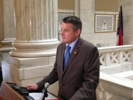 U.S. Rep. Bruce Westerman (4th District) speaking in 2013 at the Arkansas Capitol when he was a State Rep.