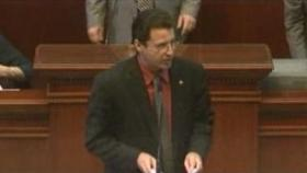 Rep. Stephen Meeks presents Voter ID  bill before the Arkansas House.