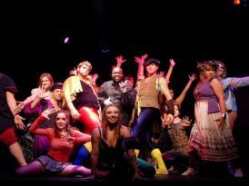 The cast of the Weekend Theater's production of Pippin.