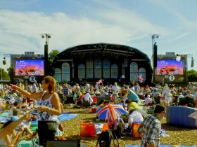 Outdoor stage at the Proms, 2012