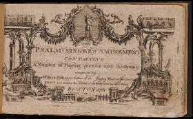 "Cover of Billings' ""The Psalm Singer's Amusement"" from 1780"