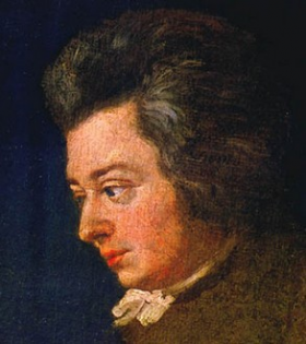 Portrait of Wolfgang Amadeus Mozart by Joseph Lange