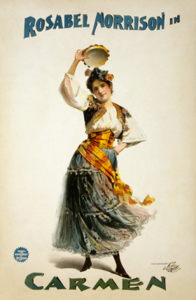 Poster for an American production of Georges Bizet's Carmen, ca. 1896
