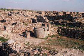 Ruins from the city of Ugarit