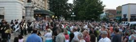 Music performed in downtown Hot Springs at last year's festival.