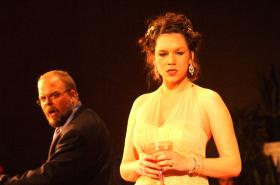 Scene from UALR's production of Gian Carlo Menotti's work.