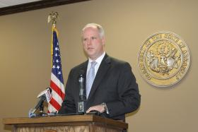 File photo of Attorney General Dustin McDaniel, who Tuesday filed a brief with the Arkansas Supreme Court, asking justices to uphold the fine against Johnson and Johnson.