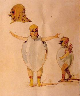 Sketch of theatre costumes for the ballet Trilby by Viktor Hartmann. One of a few paintings that were subject of his friend Modest Mussorgsky's Pictures At An Exhibition.