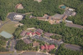 An aerial view of the National Park Community College campus in Hot Springs.