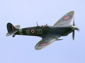 "A vintage ""Spitfire"" aircraft."