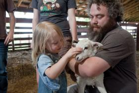 Patrick Rothfuss at the Heifer Ranch