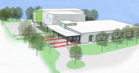 An artist rendering of the Our House Children's Center.
