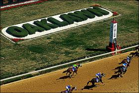 The track at Oaklawn.