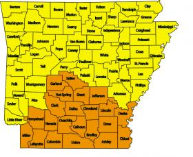 Wildfire Risk Map of Arkansas