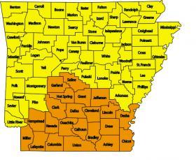 Wildfire Risk Map of Arkansas
