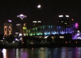 Lights on Arkansas River Bridges