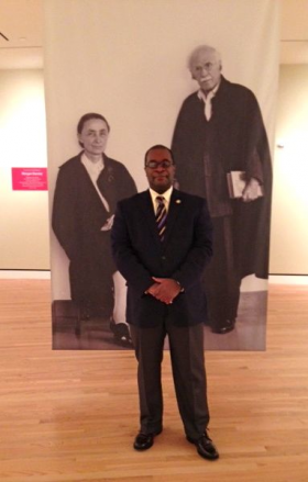Dr. Victor Simmons, longtime curator and director of Fisk University Galleries at Crystal Bridges Museum.