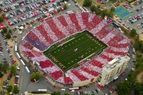 A 2011 Arkansas Razorbacks game at War Memorial Stadium in Little Rock.