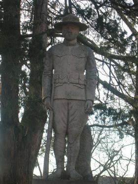 Doughboy Statue at Hendrix College (Recently Moved to a New Memorial Plaza)