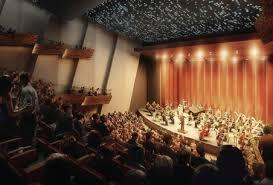 Architect's vision of the renovated performance hall at Robinson Center.