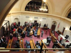Arkansas state Senators convened Monday for the beginning of the 3rd Legislative Fiscal Session held since 2008.
