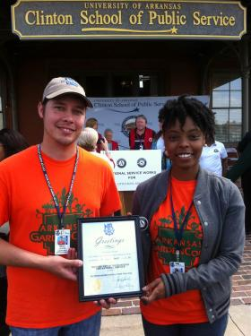 Beau Cooper and Sherice Loftin are with GardenCorps.