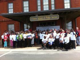 Different volunteer groups in central Arkansas
