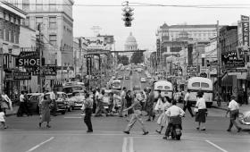 Downtown Little Rock c. 1958.