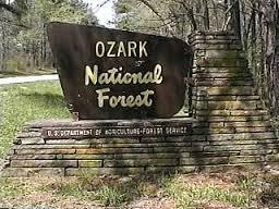 Sign for Ozark National Forest