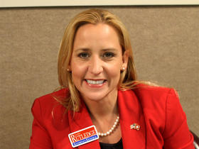Republican Attorney General-elect Leslie Rutledge at KUAR during the 2014 May Primary run-off.