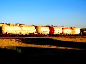 Oil train tanker cars