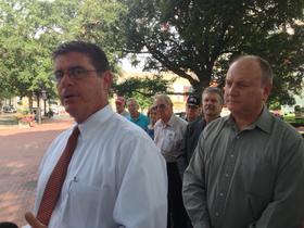 Tim Jacob, left, co-chair Arkansas Term Limits.
