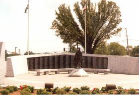 The Arkansas Vietnam Veterans Memorial on the grounds of the Arkansas State Capitol