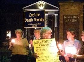 The scene outside the Arkansas Governor's Mansion before the execution of Ledell Lee.