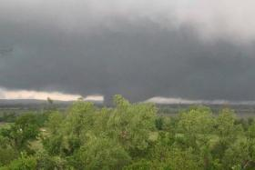 The tornado that struck Faulkner County on April 27.