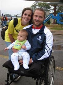Chad and Stephanie Rozanski with their son Logan.