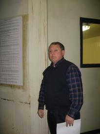 Sheriff Doc Holladay in Unit A - Pulaski County Jail