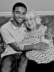 Helen Marshall and her grandson, Malik Marshall
