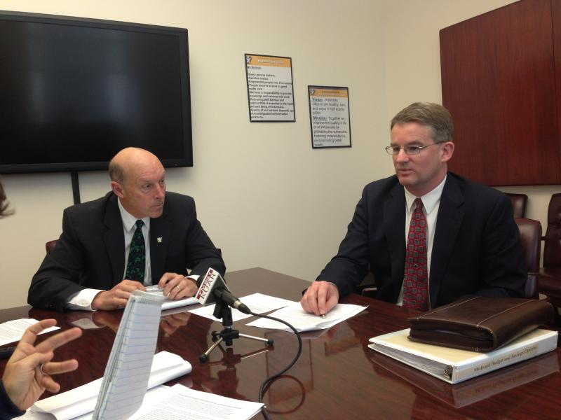 DHS Director John Selig, Director Division of Medical Services Andy Allison.