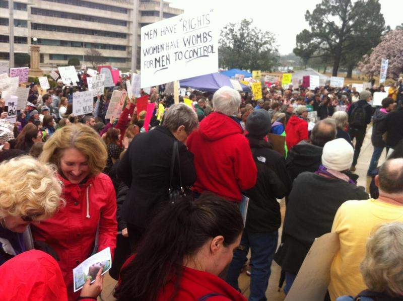 War on Women Protest at Arkansas Capitol on March 23, 2013