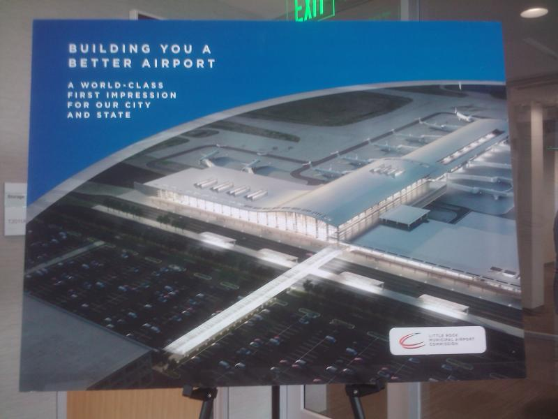 An artist rendering of the completed airport after all renovations.