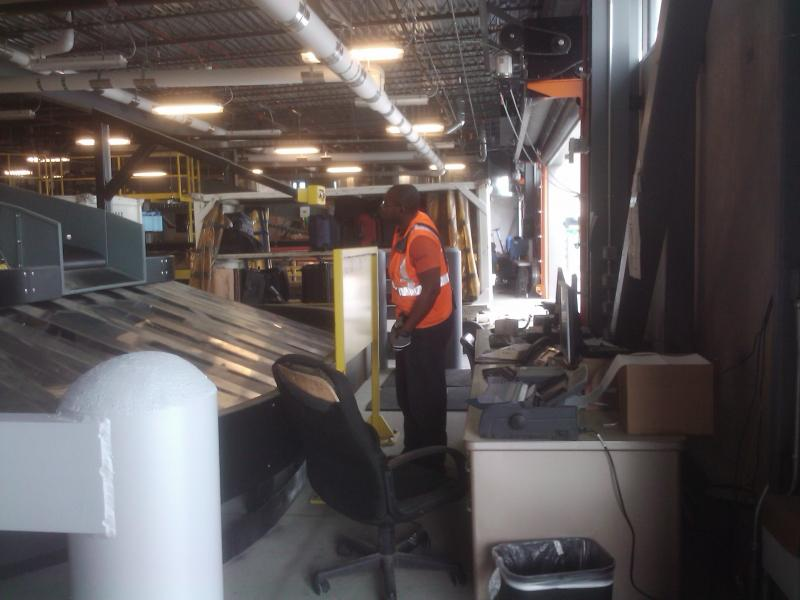A behind the scenes look at baggage system operations at Clinton Airport.