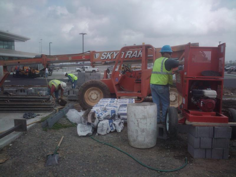 Construction crews continue work at Clinton Airport.